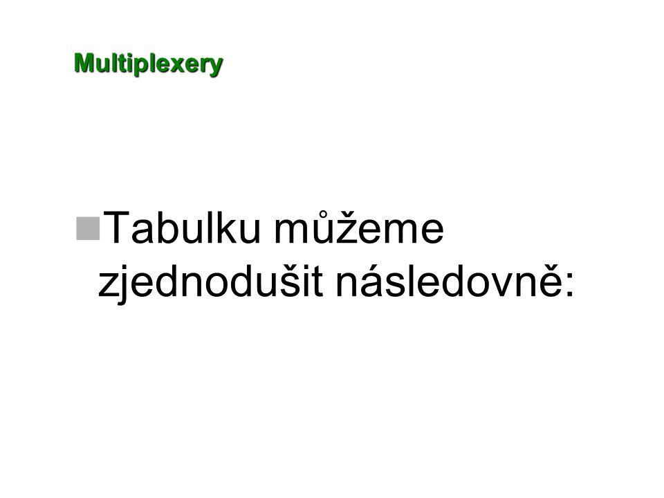 Multiplexery Tabulku můžeme zjednodušit následovně: