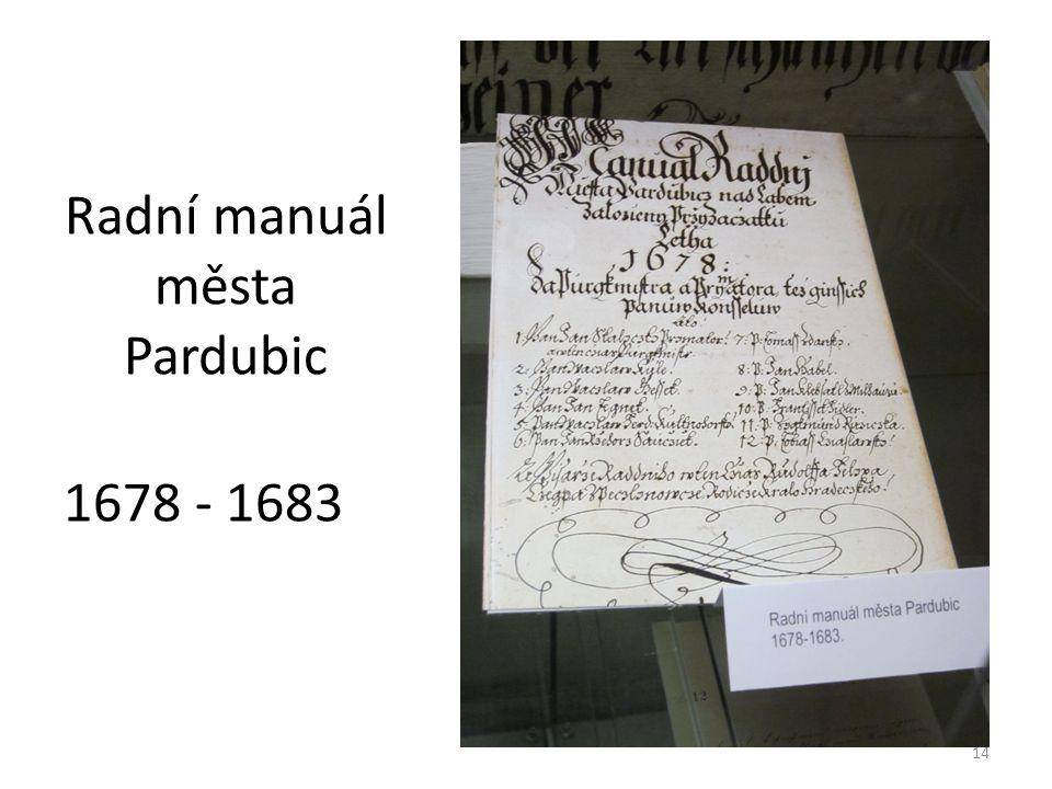 Radní manuál města Pardubic 1678 - 1683 14