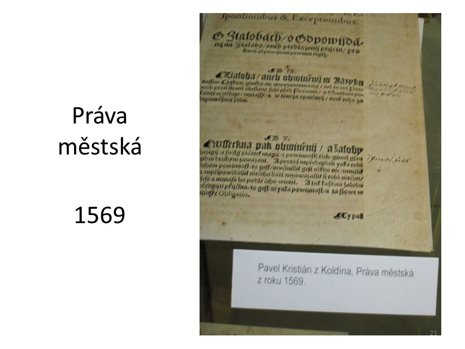 Práva městská 1569 21