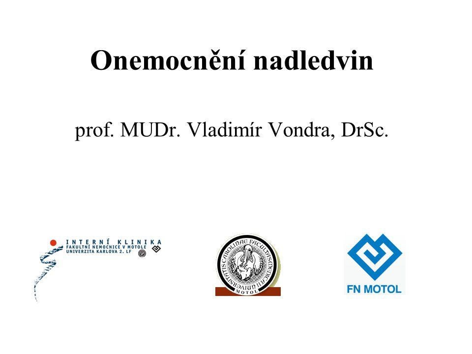 Onemocnění nadledvin prof. MUDr. Vladimír Vondra, DrSc.
