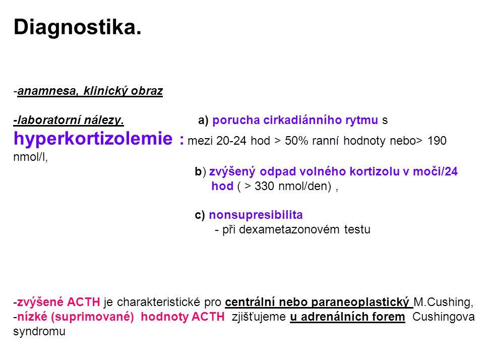 Diagnostika.-anamnesa, klinický obraz -laboratorní nálezy.