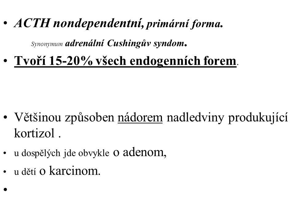 ACTH nondependentní, primární forma.Synonymum adrenální Cushingův syndom.