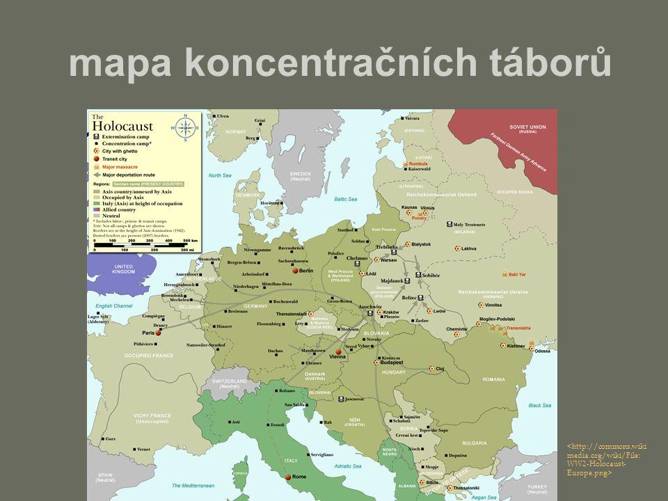 mapa koncentračních táborů