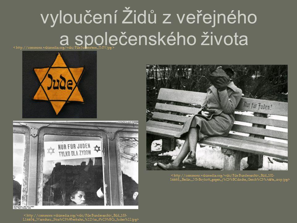 vyloučení Židů z veřejného a společenského života