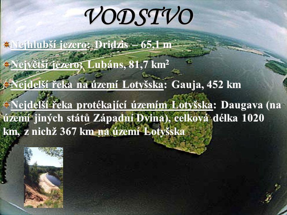 POVRCH Nejvyšší bod: Gaiziňkalns, 311,6 m NP Gauja