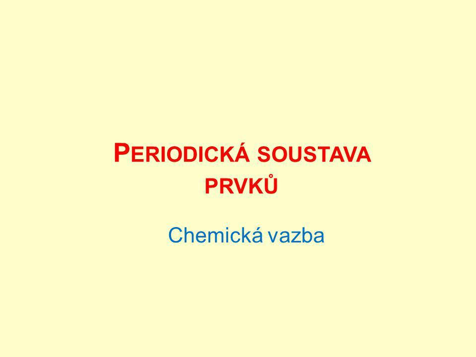 Periodická soustava prvků Na počátku 19.