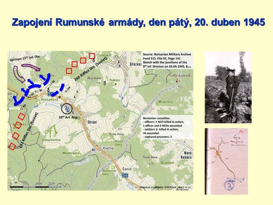 Zapojení Rumunské armády, den pátý, 20. duben 1945