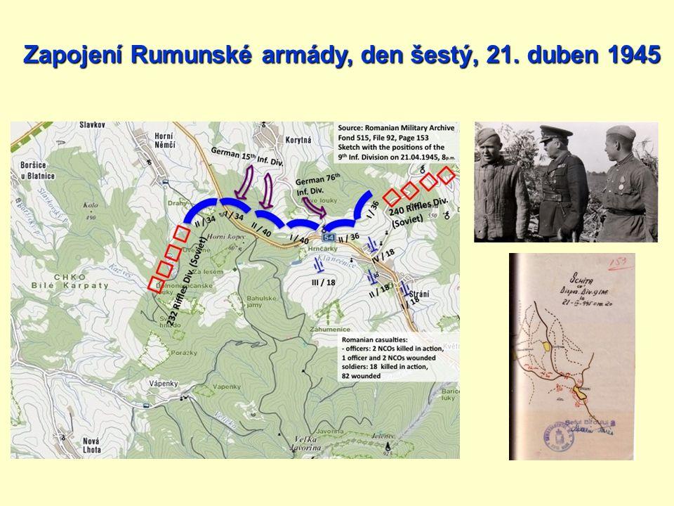 Zapojení Rumunské armády, den šestý, 21. duben 1945