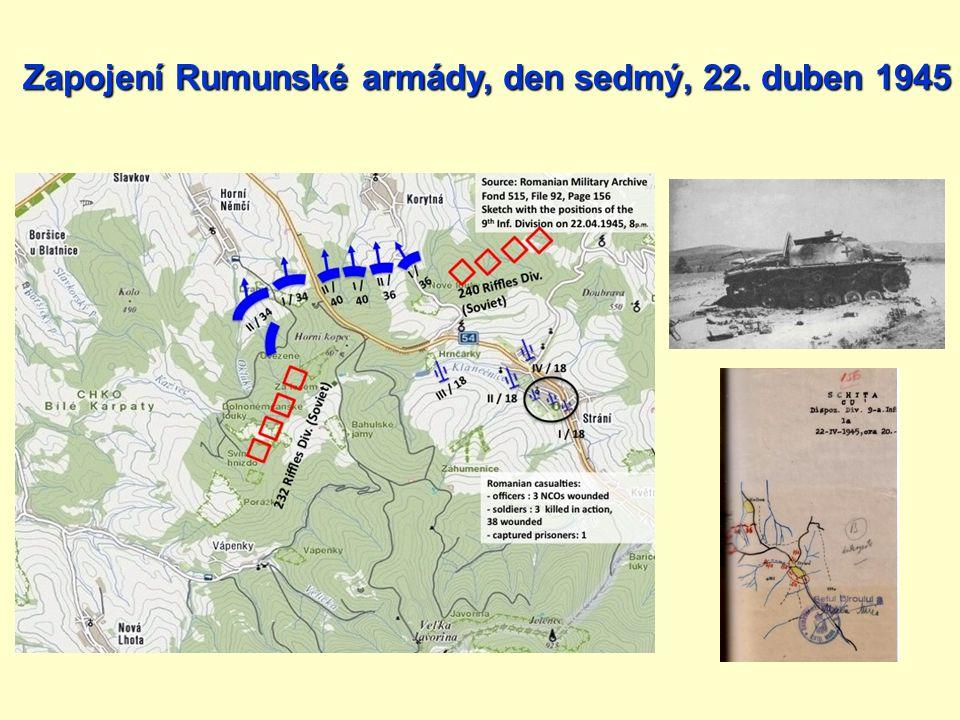 Zapojení Rumunské armády, den sedmý, 22. duben 1945