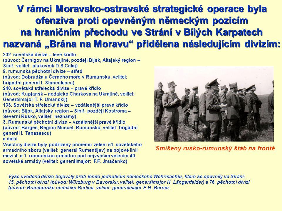 Zdravotní karta ran ě ní Generála St ă nculeska v e Strání Zapojení Rumunské armády, den třetí, 18.