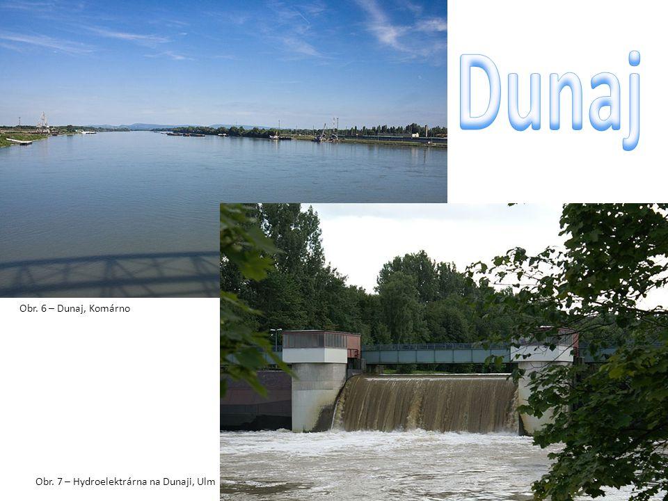 Obr. 6 – Dunaj, Komárno Obr. 7 – Hydroelektrárna na Dunaji, Ulm