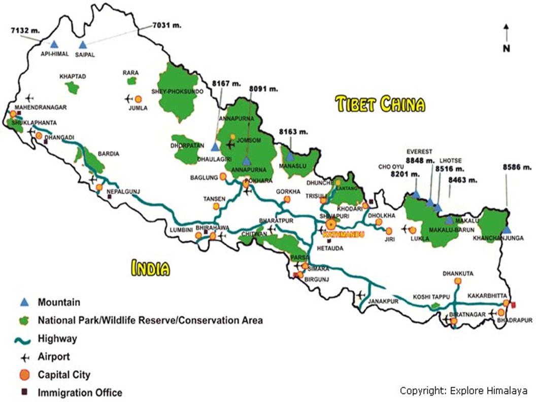 Himaláje ● Nejvyšší pohoří světa ● Délka 2400 km, šířka 180 – 320 km ● Území Číny, Nepálu, Bhútánu, Indie a Pákistánu ● Nejvyšší hora světa - Mt.