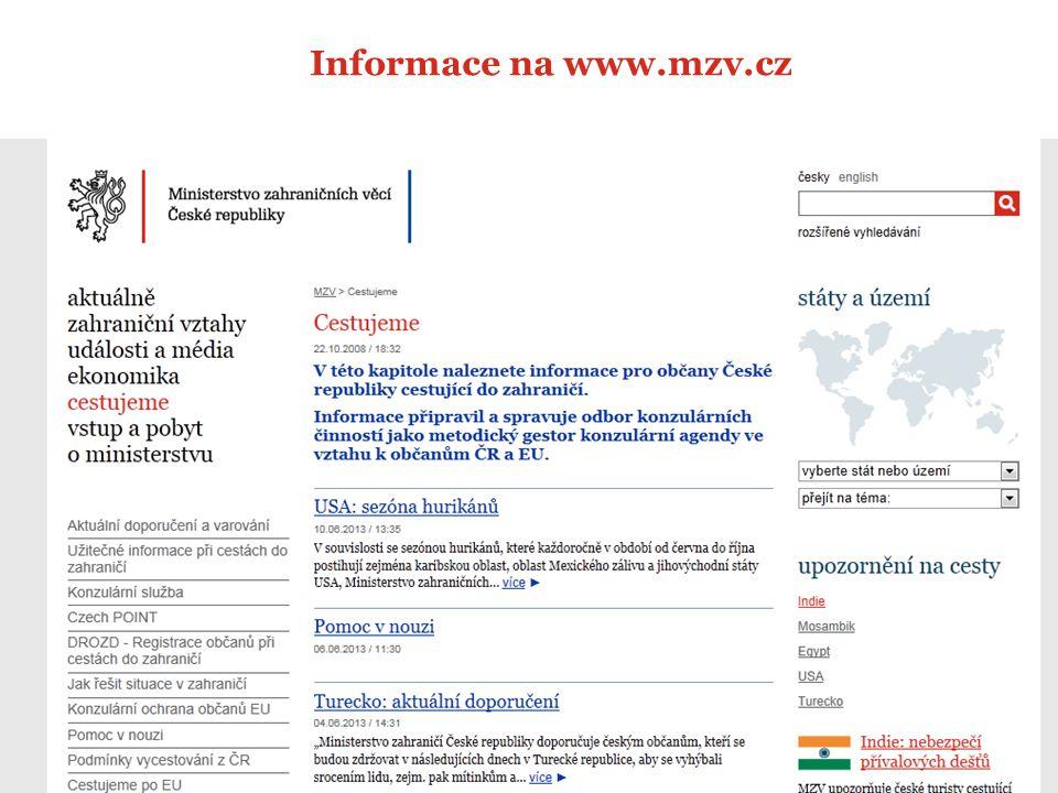 11 Informace na www.mzv.cz