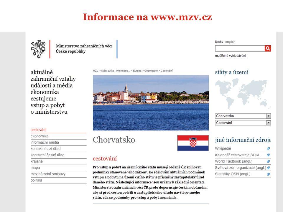 12 Informace na www.mzv.cz
