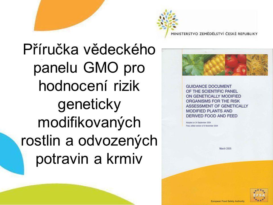 Příručka vědeckého panelu GMO pro hodnocení rizik geneticky modifikovaných rostlin a odvozených potravin a krmiv