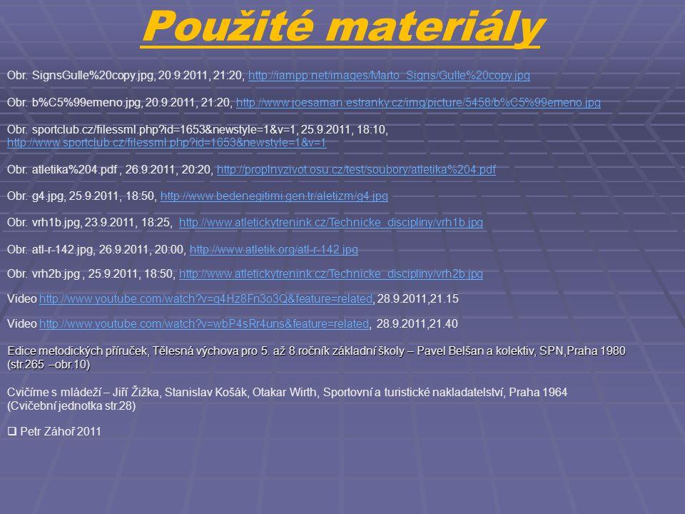 Použité materiály Obr. SignsGulle%20copy.jpg, 20.9.2011, 21:20, http://iampp.net/images/Marto_Signs/Gulle%20copy.jpghttp://iampp.net/images/Marto_Sign