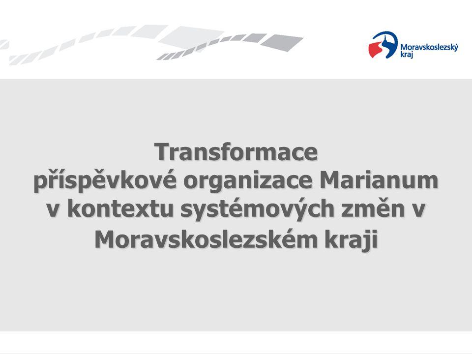 Transformace příspěvkové organizace Marianum v kontextu systémových změn v Moravskoslezském kraji
