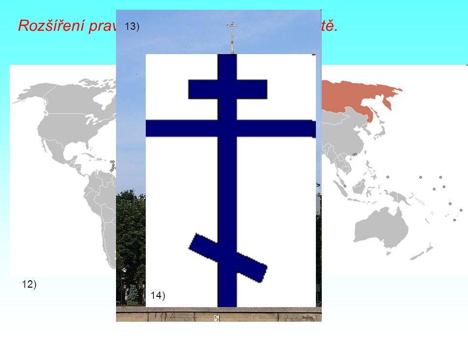 Rozšíření pravoslavného křesťanství ve světě. 12) 13) 14)