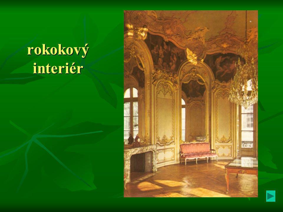 rokokový interiér