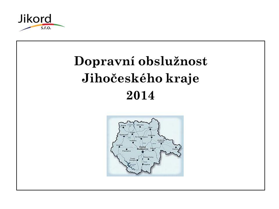 2 Dopravní obslužnost Jihočeského kraje 2014