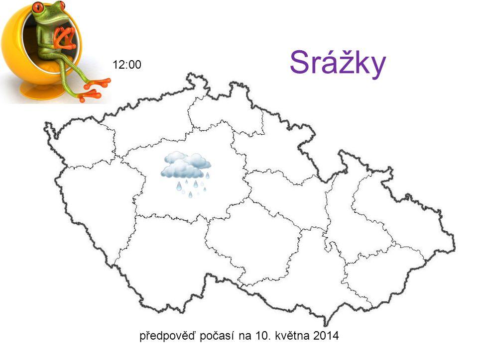 předpověď počasí na 10. května 2014 18:00 Teplota 14°C 13°C 16°C 12°C 17°C