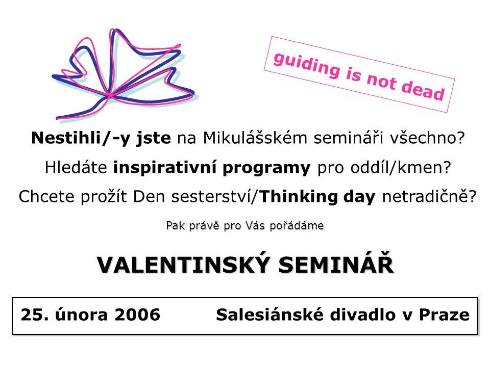 Nestihli/-y jste na Mikulášském semináři všechno.Hledáte inspirativní programy pro oddíl/kmen.