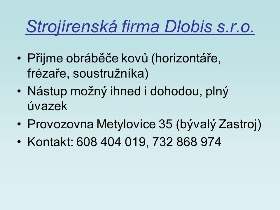 Strojírenská firma Dlobis s.r.o.