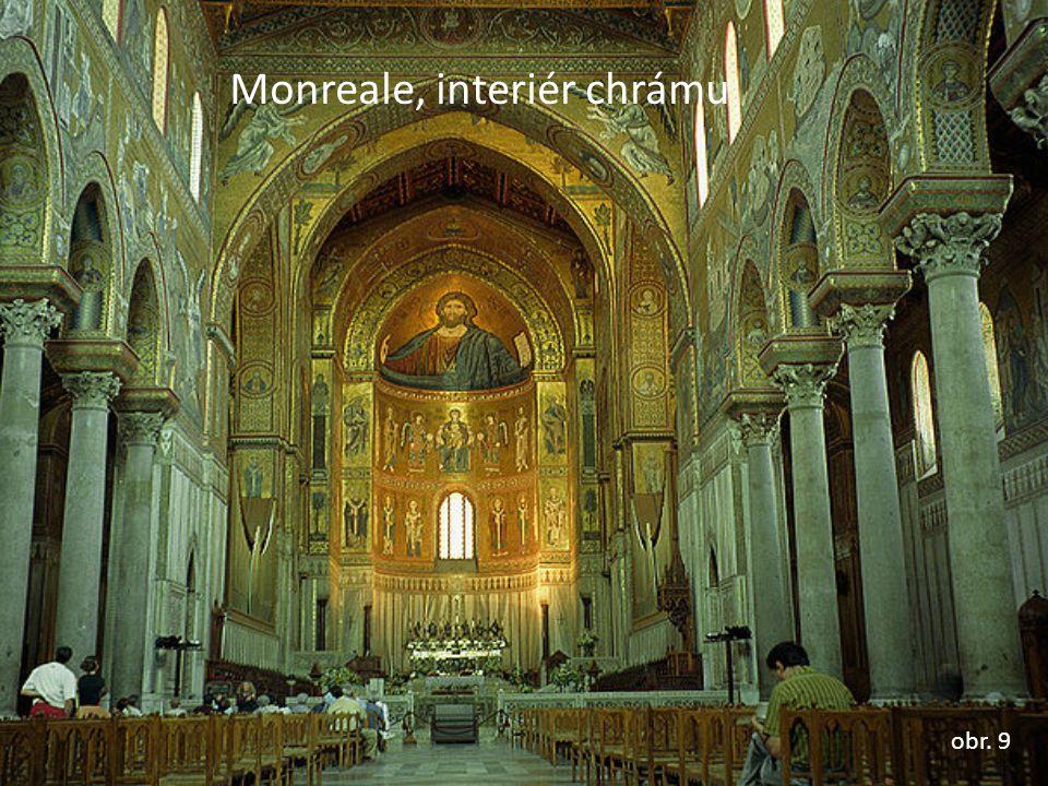 Monreale, interiér chrámu obr. 9