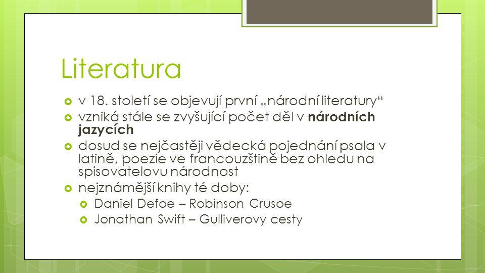 Literatura  v 18.