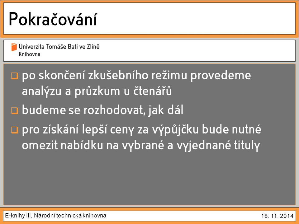 E-knihy III, Národní technická knihovna 18.11.