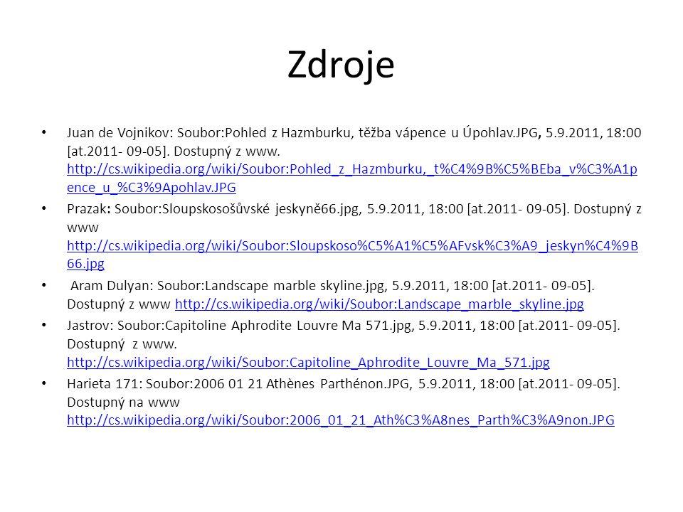 Zdroje Juan de Vojnikov: Soubor:Pohled z Hazmburku, těžba vápence u Úpohlav.JPG, 5.9.2011, 18:00 [at.2011- 09-05].