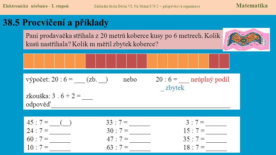 38.6 Něco navíc pro šikovné Elektronická učebnice - I.