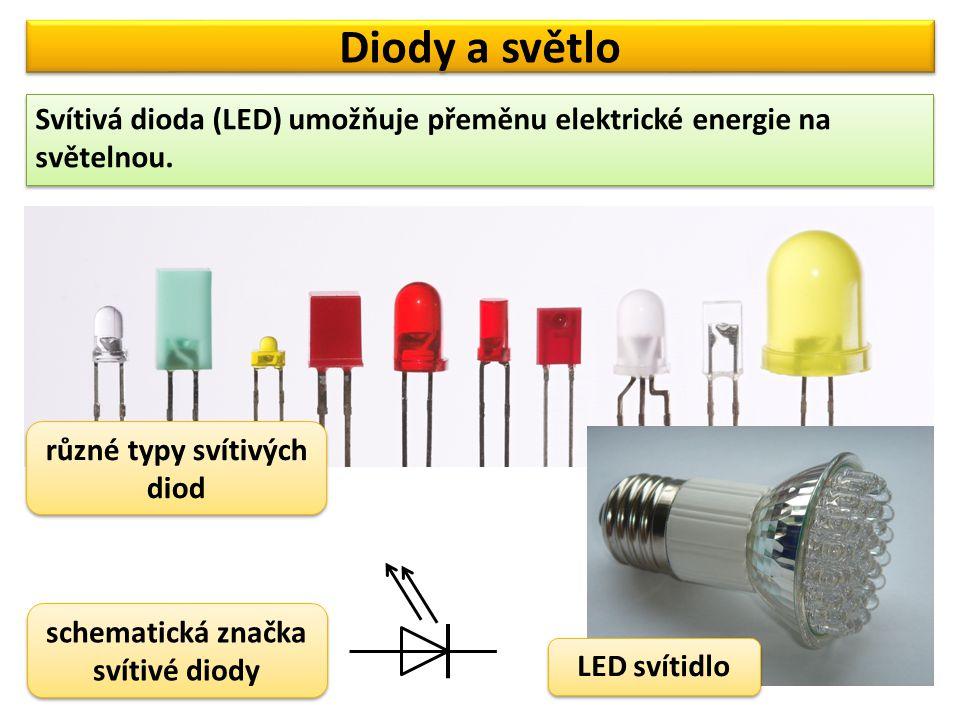 Diody a světlo Vyzkoušejme si zapojení svítivé diody.