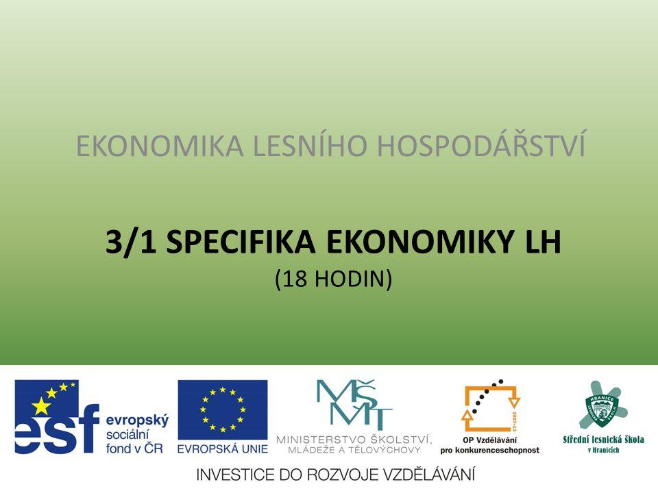 3.1 Lesní hospodářství a jeho význam v NH Zelená zpráva 2011 HDP ČR 3809 mld.