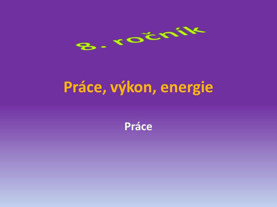 Práce, výkon, energie Práce