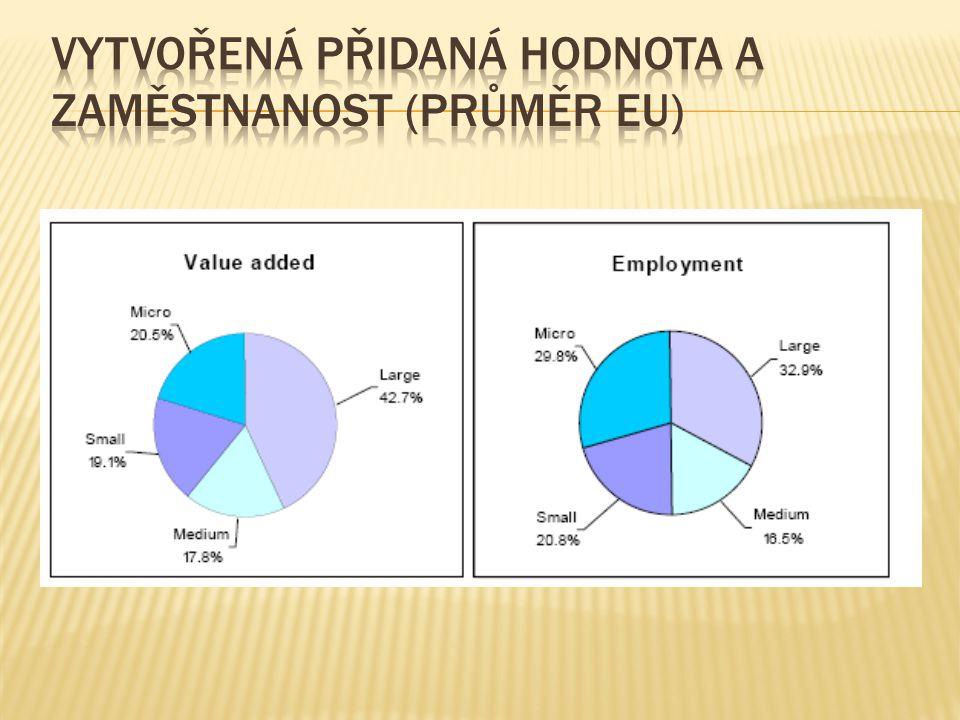 Ve stavebnictví představují MSP více než 85 %ní zaměstnanost (v českém stavebnictví pracuje 79 % zaměstnanců v MSP).