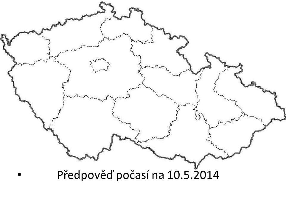 Předpověď počasí na 10.5.2014