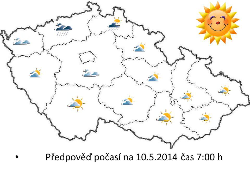 Předpověď počasí na 10.5.2014 čas 7:00 h