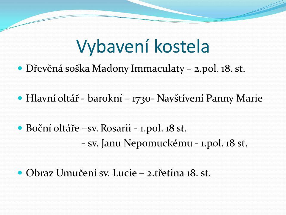 Vybavení kostela Dřevěná soška Madony Immaculaty – 2.pol.