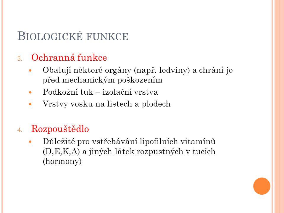 ROZDĚLENÍ lipidy jednoduché Tuky Oleje vosky složené Fosfolipidy Glykolipidy Lipoproteiny Odvozené Prostaglandiny Steroidy Terpeny Lipofilní vitamíny acylglyceroly