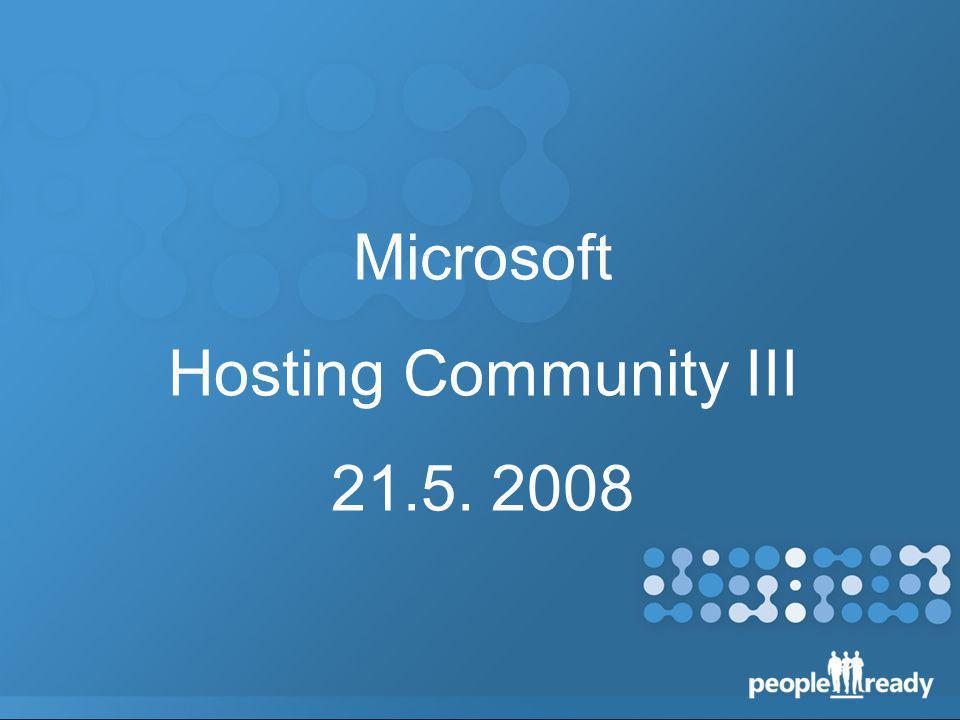 Microsoft Hosting Community III 21.5. 2008