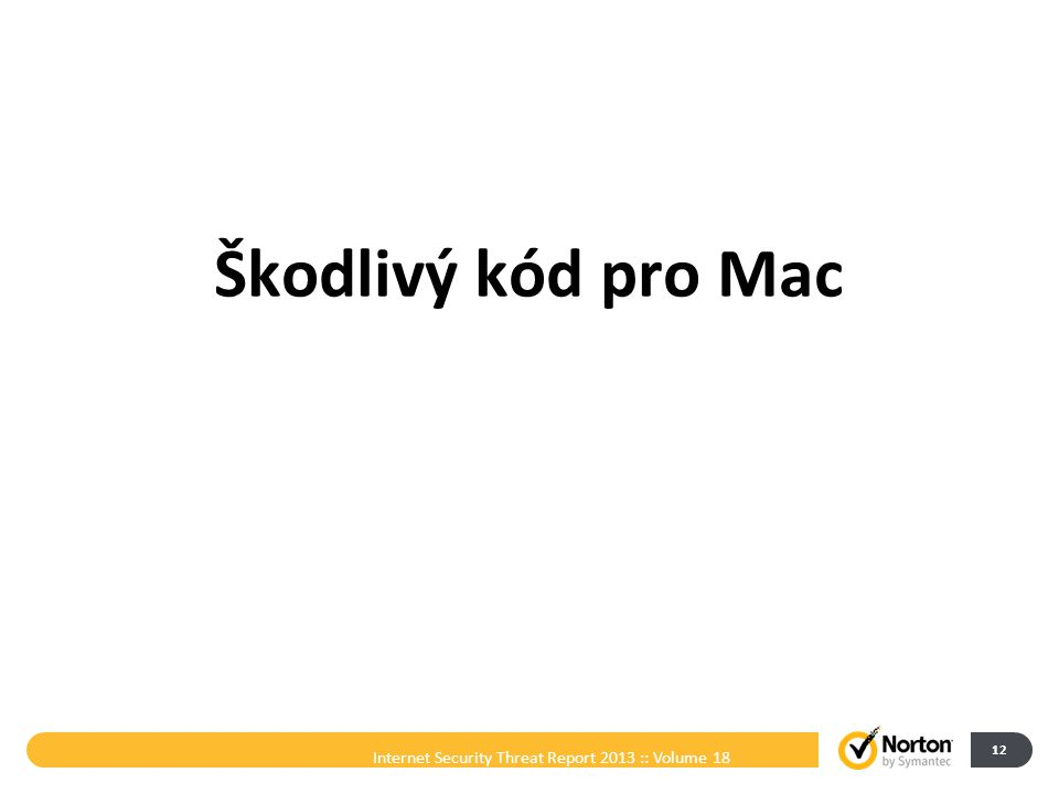 Škodlivý kód pro Mac Internet Security Threat Report 2013 :: Volume 18 12