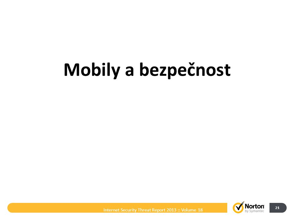 Mobily a bezpečnost Internet Security Threat Report 2013 :: Volume 18 21