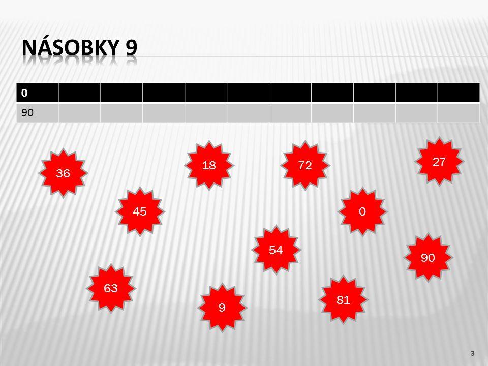 18 : 9 = 263 : 9 = 727 : 9 = 3 54 : 9 = 636 : 9 = 4 9 : 9 = 1 45 : 9, 63 : 9, 36 : 9, 90 : 9, 18 : 9, 72 : 9 14 c3618547290279638145 C : 942681031795 547 82