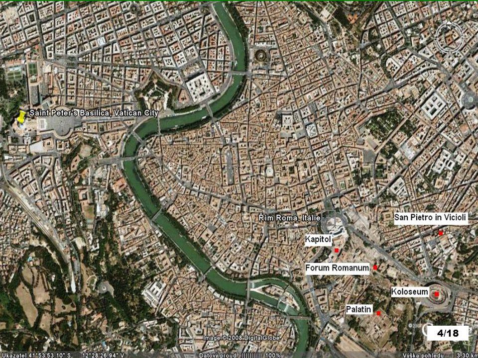 ŘÍM věčné město Doprava: Vlakem: 20,6 Euro/os.Letenka: 90 Euro/os.