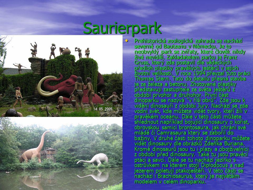 Saurierpark Saurierpark Prehistorická zoologická zahrada se nachází severně od Bautzenu v Německu. Je to neobvyklý park se zvířaty, které člověk nikdy