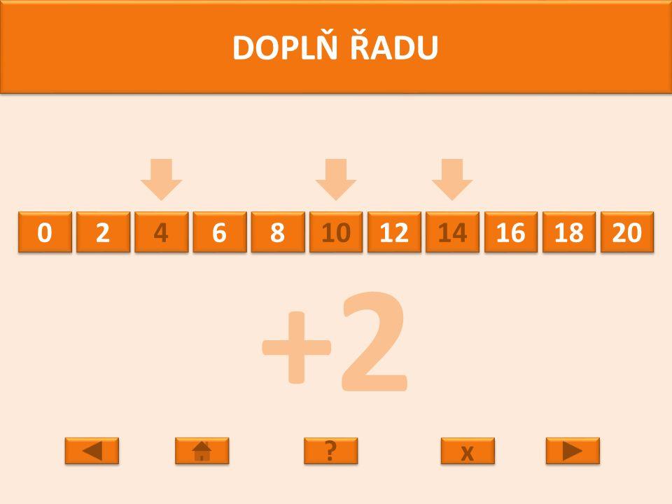 20 18 16 14 12 10 8 8 6 6 4 4 2 2 0 0 DOPLŇ ŘADU x x ? ? -2