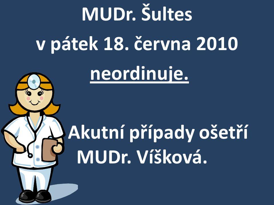 Matrika Těšany oznamuje občanům, že od 16.6.do 18.6.