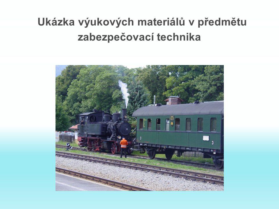 Ukázka výukových materiálů v předmětu zabezpečovací technika