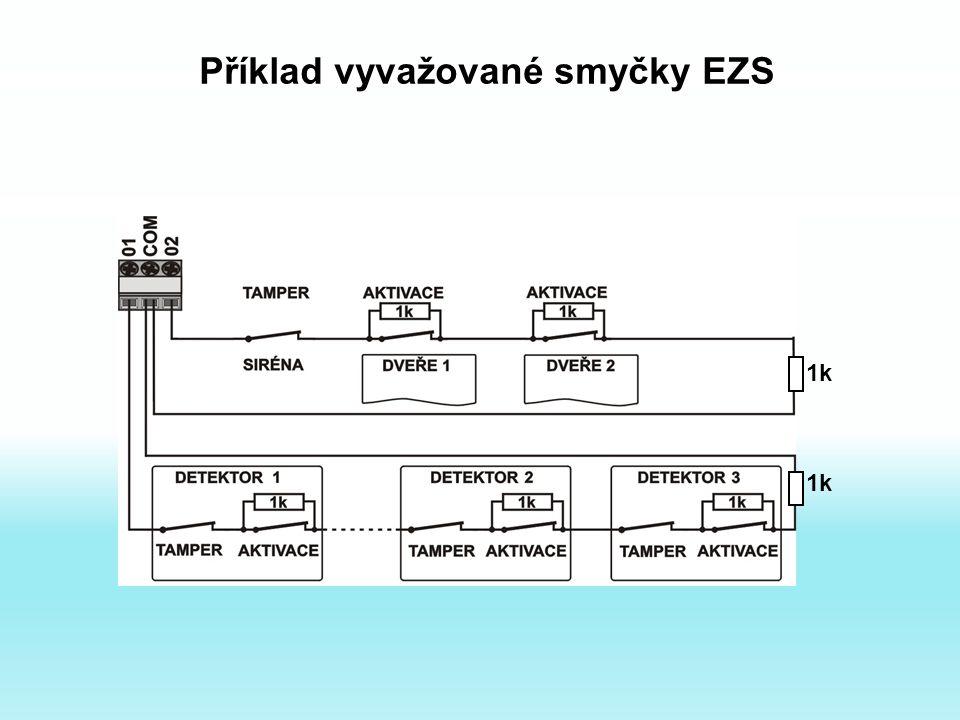 Příklad vyvažované smyčky EZS 1k